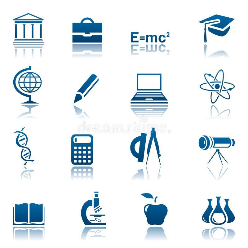 Het pictogramreeks van de wetenschap & van het onderwijs vector illustratie