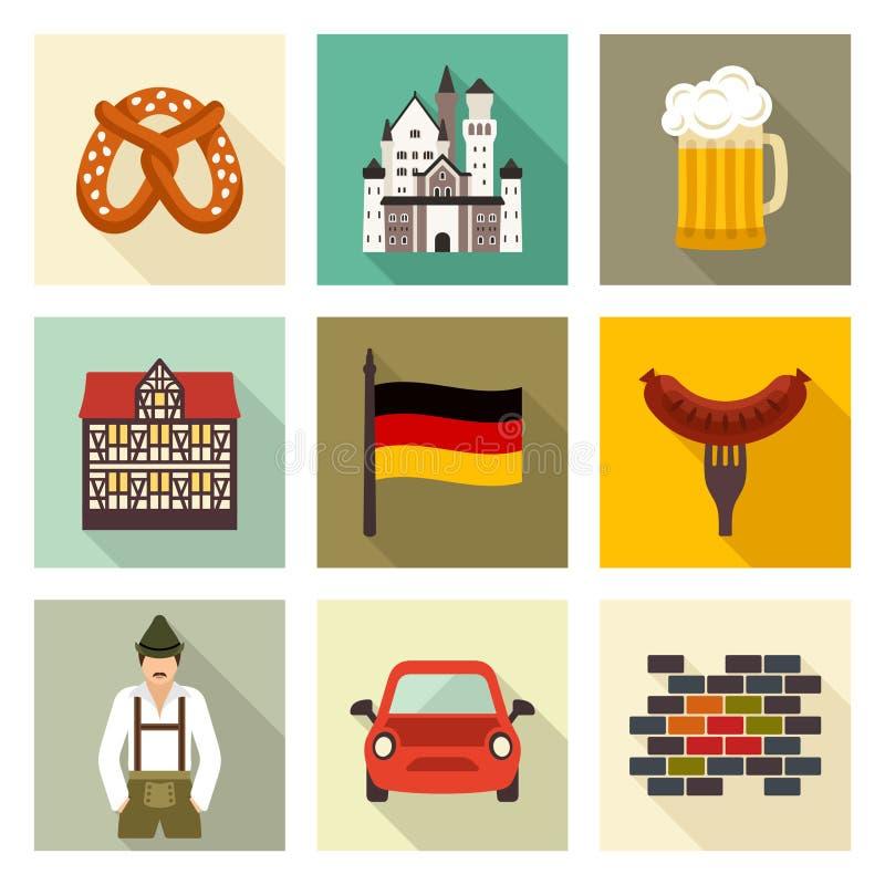 Het pictogramreeks van Duitsland stock illustratie