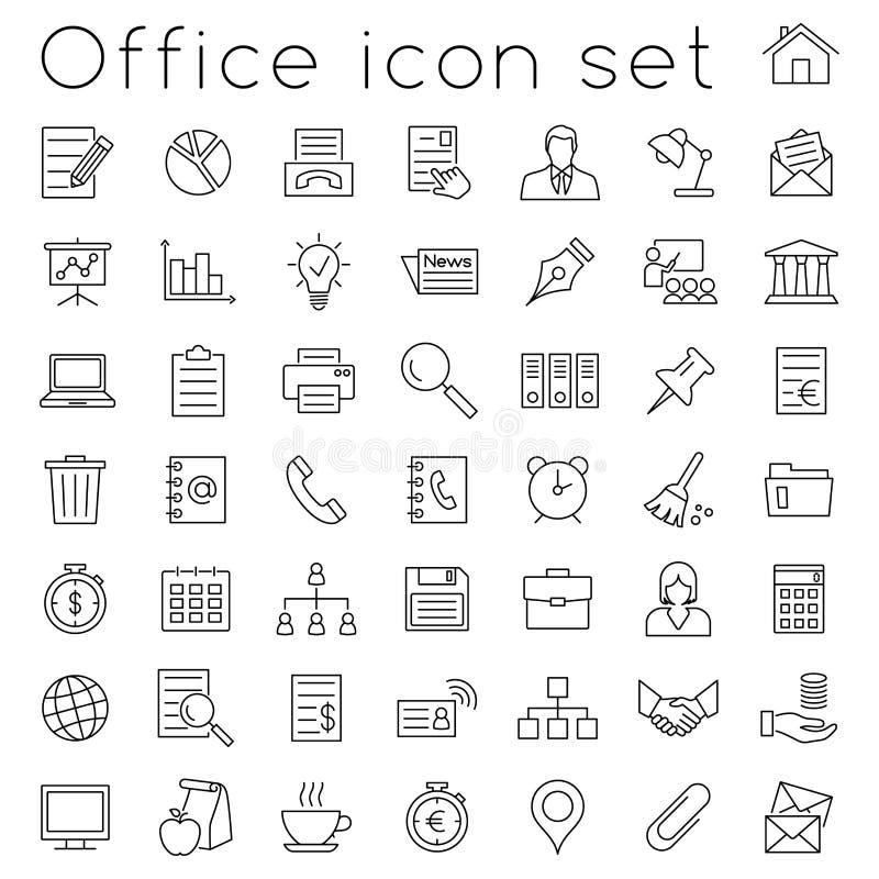 Het pictogramreeks van het bureau royalty-vrije illustratie