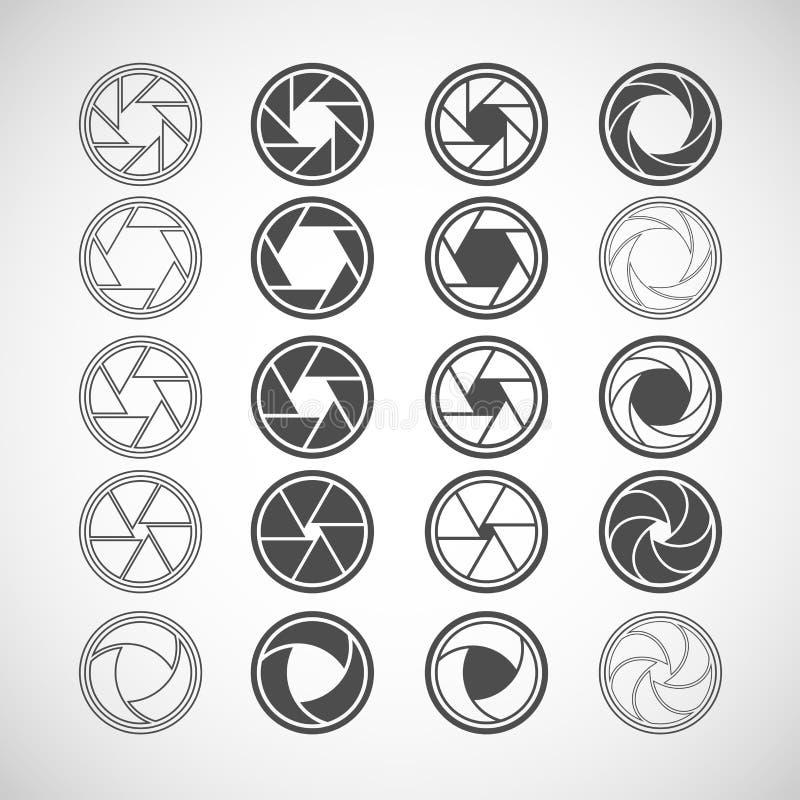 Het pictogramreeks van het camerablind, vectoreps10 stock illustratie