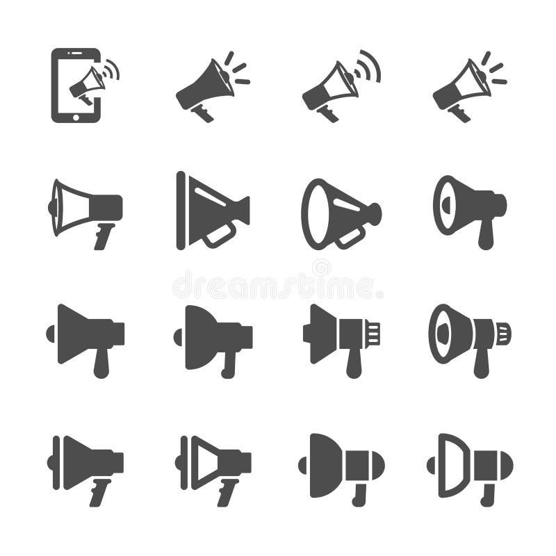 Het pictogramreeks van het megafoon verschillende ontwerp, vectoreps10 vector illustratie