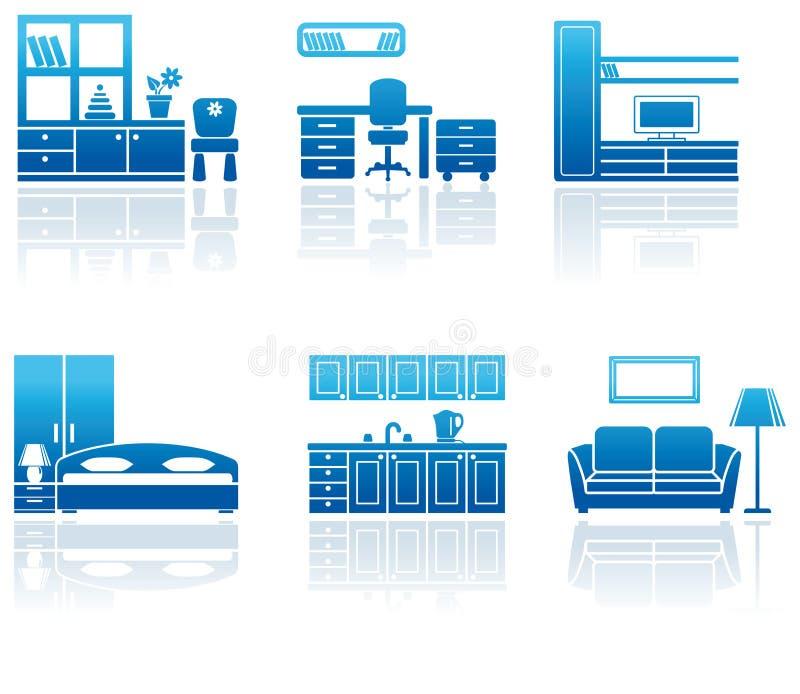 Het pictogramreeks van het meubilair