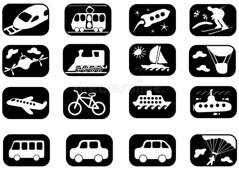 Het pictogramreeks van het vervoer vector illustratie