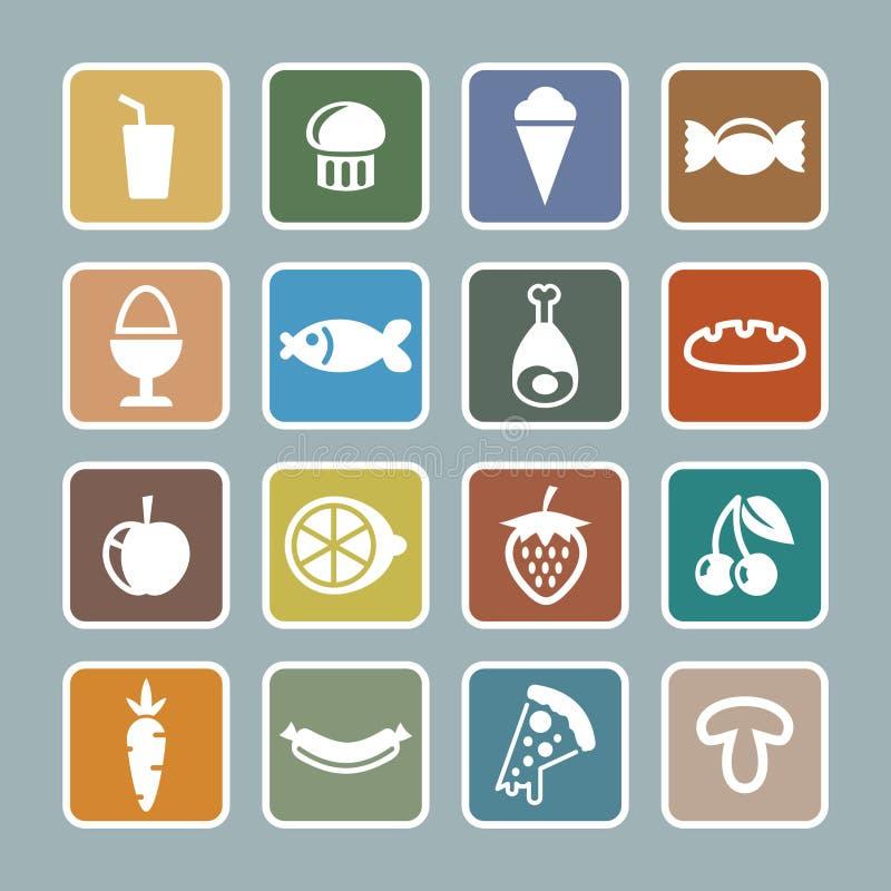Het pictogramreeks van het voedsel vector illustratie