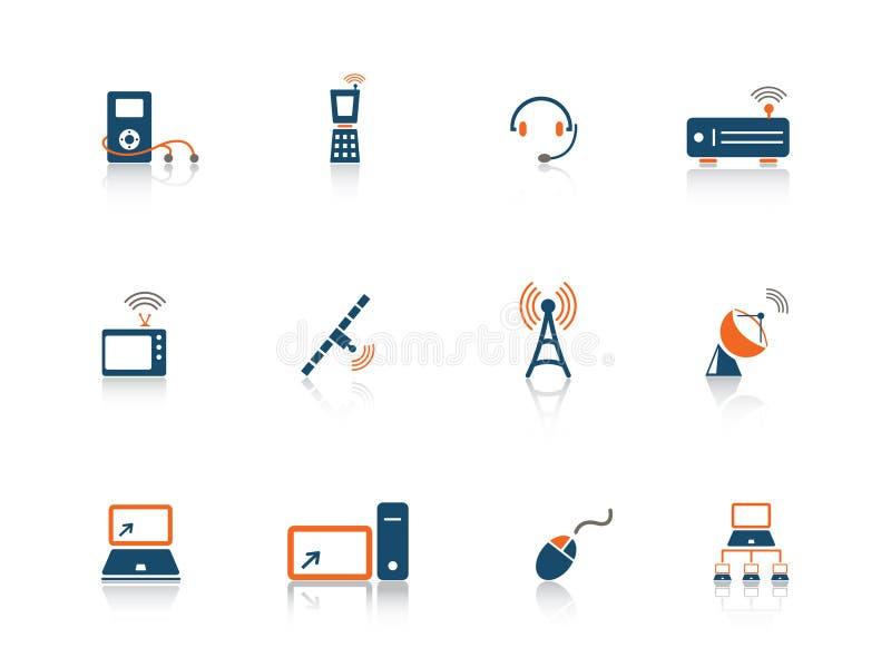 Het pictogramreeks van het Web stock illustratie