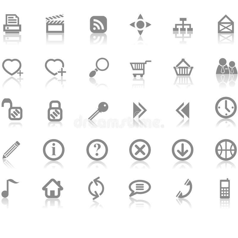 Het pictogramreeks van Internet van de website vector illustratie