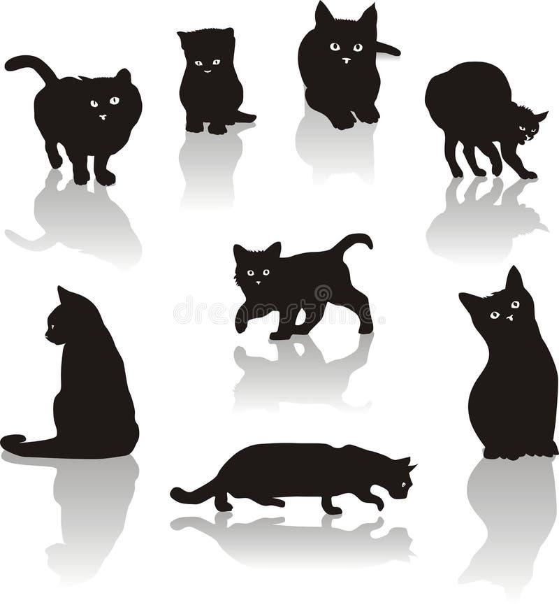 Het pictogramreeks van katten royalty-vrije illustratie