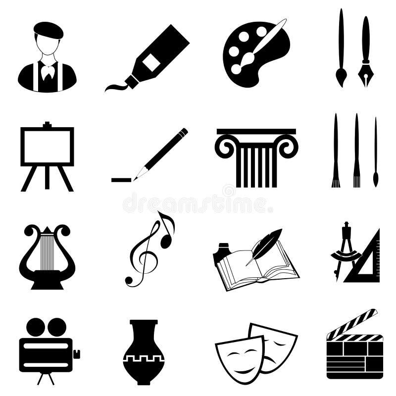 Het pictogramreeks van kunsten royalty-vrije illustratie