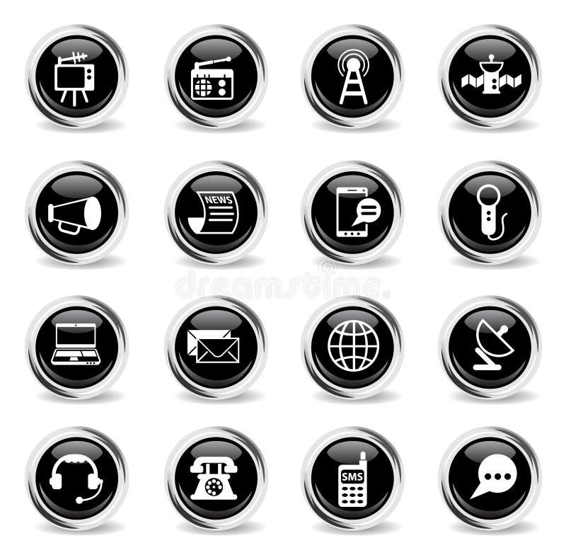 Het pictogramReeks van media vector illustratie
