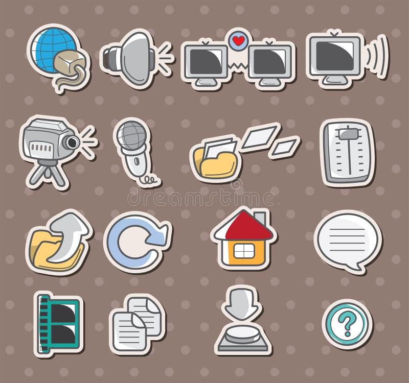 Het pictogramstickers van het Web vector illustratie