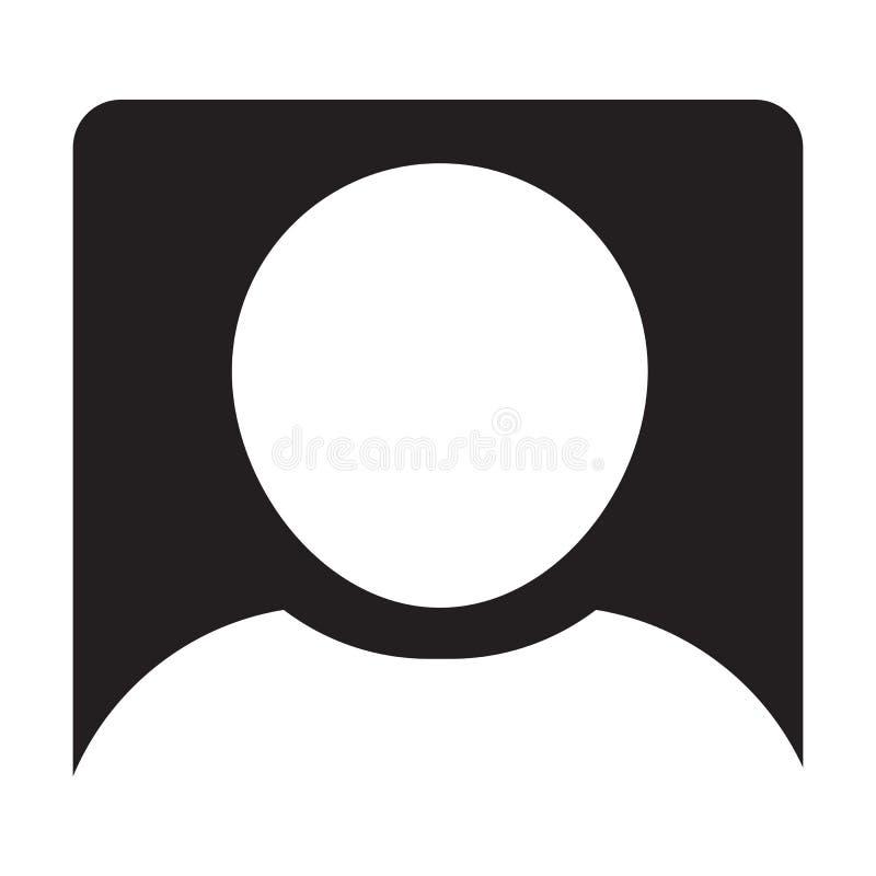 Het Pictogramteken van Person Profile Avatar Symbol Glyph van het gebruikerspictogram Vector Mannelijk stock illustratie
