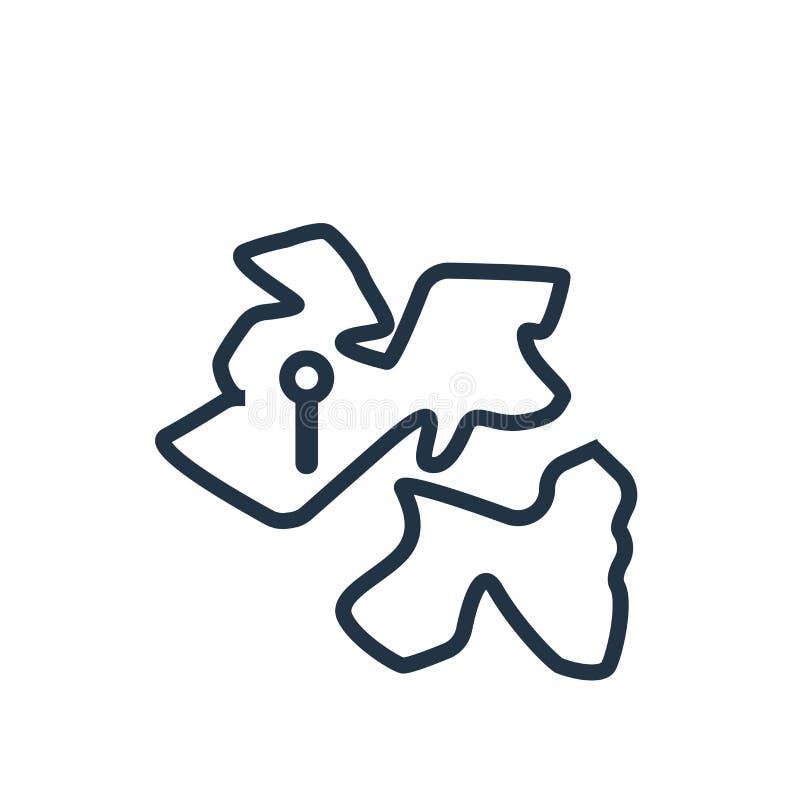 Het pictogramvector van Afrika op witte achtergrond, het teken dat van Afrika wordt geïsoleerd royalty-vrije illustratie