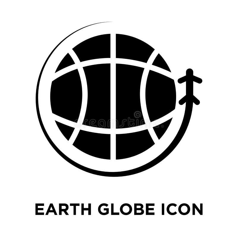 Het pictogramvector van de aardebol op witte achtergrond, embleemconce wordt geïsoleerd die royalty-vrije illustratie