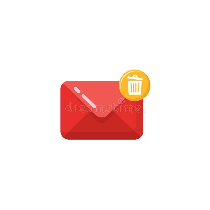 het pictogramvector van de berichtpost het ontwerp van het e-mailpictogramsymbool stock illustratie