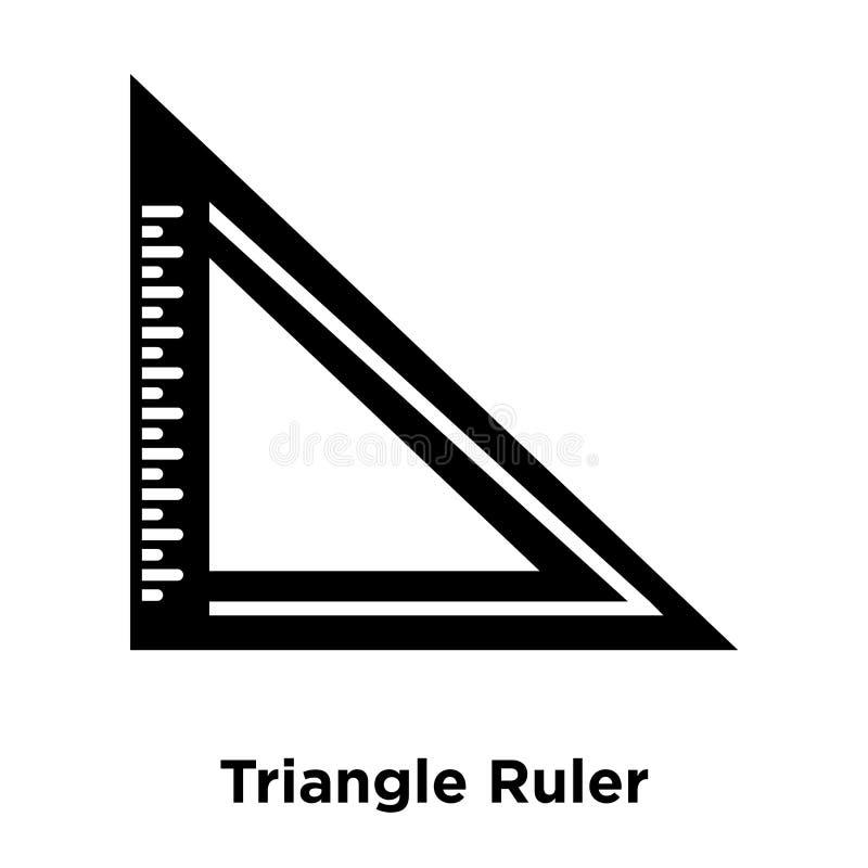 Het pictogramvector van de driehoeksheerser op witte achtergrond, mede die embleem wordt geïsoleerd stock illustratie