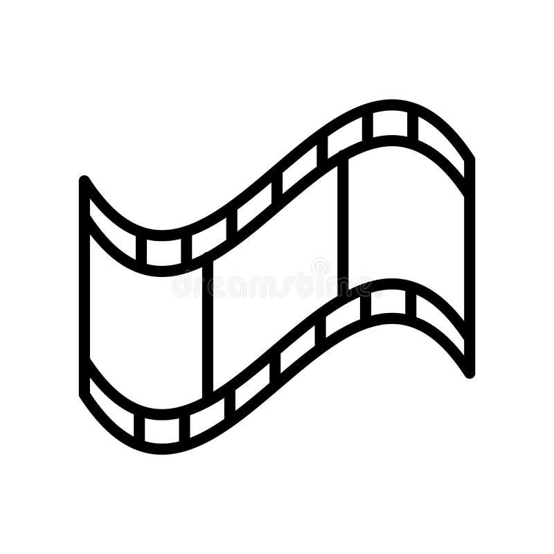 Het pictogramvector van de filmstrook op witte achtergrond, Filmstrook wordt geïsoleerd die vector illustratie