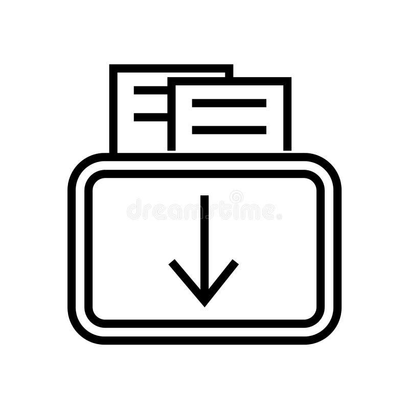 Het pictogramvector van de gegevensomslag op witte achtergrond, het teken van de Gegevensomslag, de lineaire symbool en elementen royalty-vrije illustratie