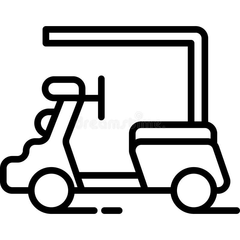 Het pictogramvector van de golfauto royalty-vrije illustratie
