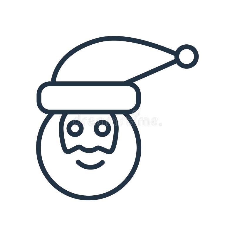 Het pictogramvector van de Kerstman op witte achtergrond, het teken dat van de Kerstman wordt geïsoleerd vector illustratie