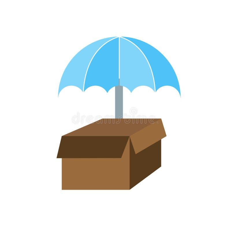 Het pictogramvector van de leveringsverzekering op witte achtergrond, het teken van de Leveringsverzekering, weersymbolen wordt g royalty-vrije illustratie