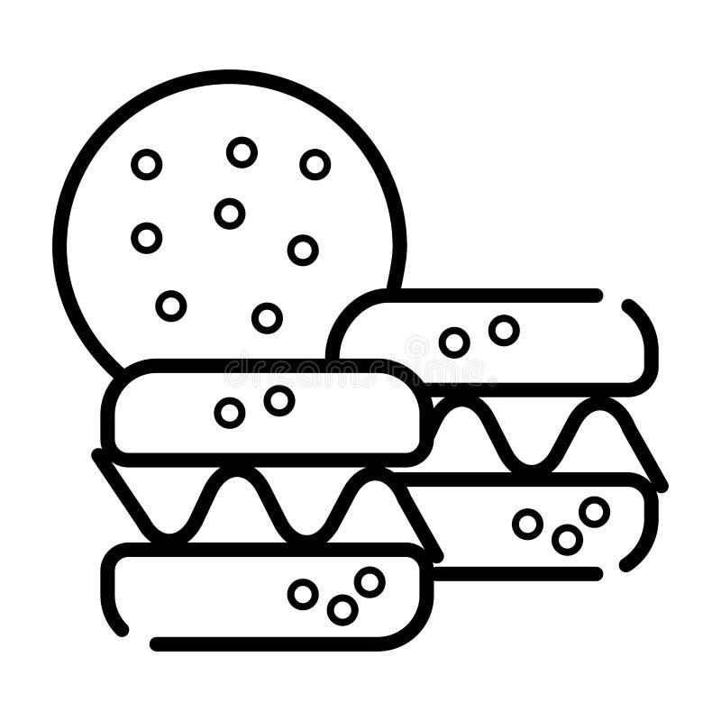 Het pictogramvector van de Macaronkrabbel stock illustratie