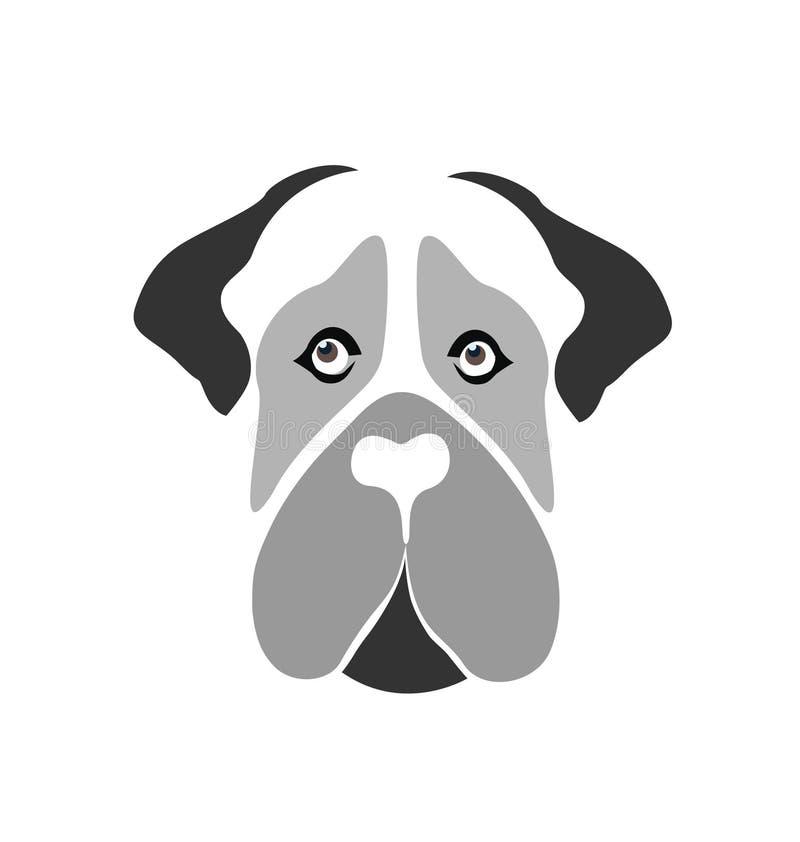 Het pictogramvector van de mastiffhond royalty-vrije illustratie