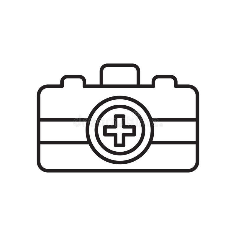 Het pictogramvector van de noodsituatieuitrusting op witte achtergrond, het teken van de Noodsituatieuitrusting, teken en symbole royalty-vrije illustratie