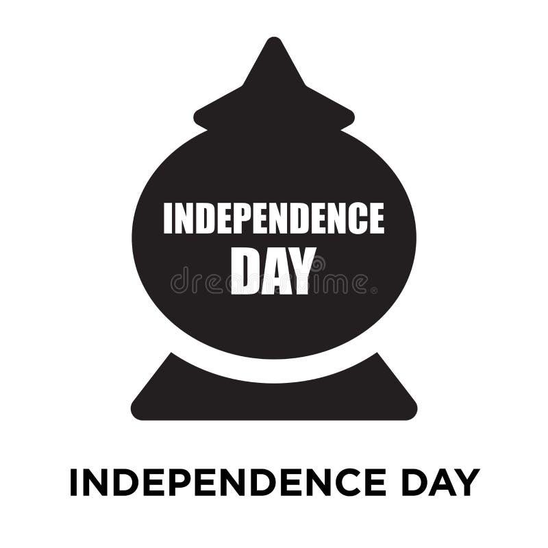 Het pictogramvector van de onafhankelijkheidsdag op witte achtergrond, embleem wordt geïsoleerd dat stock illustratie