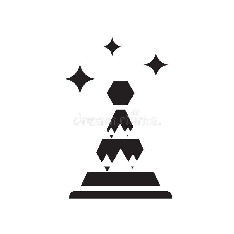 Het pictogramvector van de partijhoed op witte achtergrond, het teken van de Partijhoed, vieringspictogrammen wordt geïsoleerd da vector illustratie
