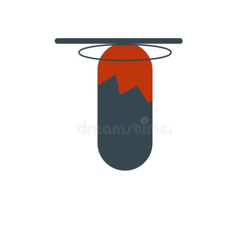 Het pictogramvector van de ponsenzak op witte achtergrond, het teken van de Ponsenzak, menselijke illustraties, menselijke illust vector illustratie