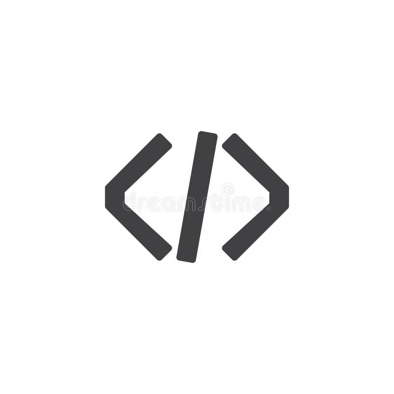 Het pictogramvector van de programmeringscode royalty-vrije illustratie