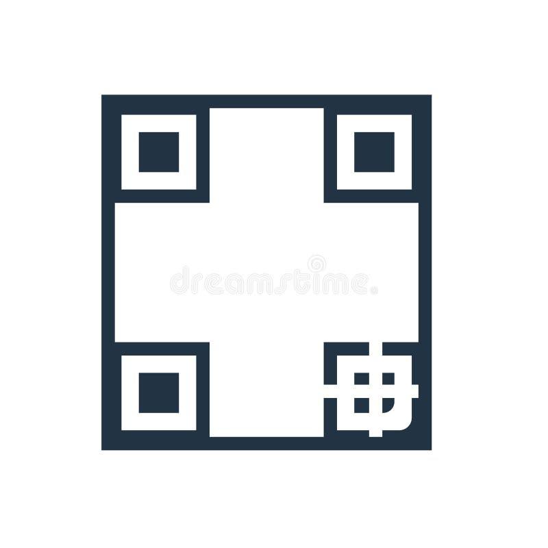 Het pictogramvector van de Qrcode op witte achtergrond, Qr-codeteken wordt geïsoleerd dat stock illustratie