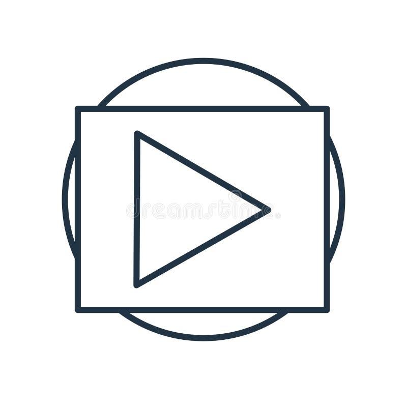 Het pictogramvector van de spelknoop op witte achtergrond, het teken dat van de Spelknoop wordt geïsoleerd stock illustratie
