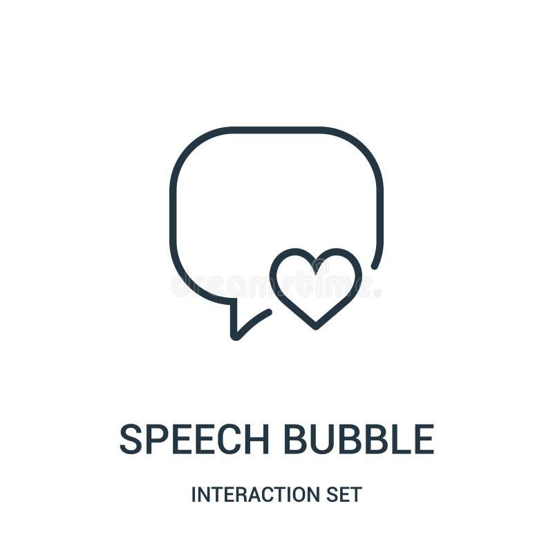 het pictogramvector van de toespraakbel van interactie vastgestelde inzameling Dunne van het de bellenoverzicht van de lijntoespr royalty-vrije illustratie