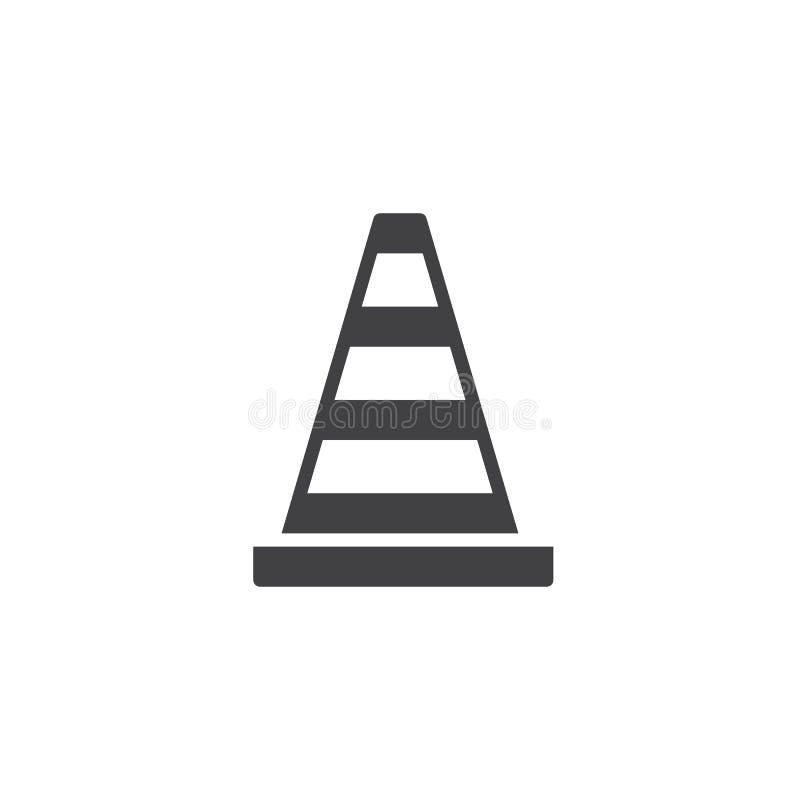 Het pictogramvector van de verkeerskegel royalty-vrije illustratie