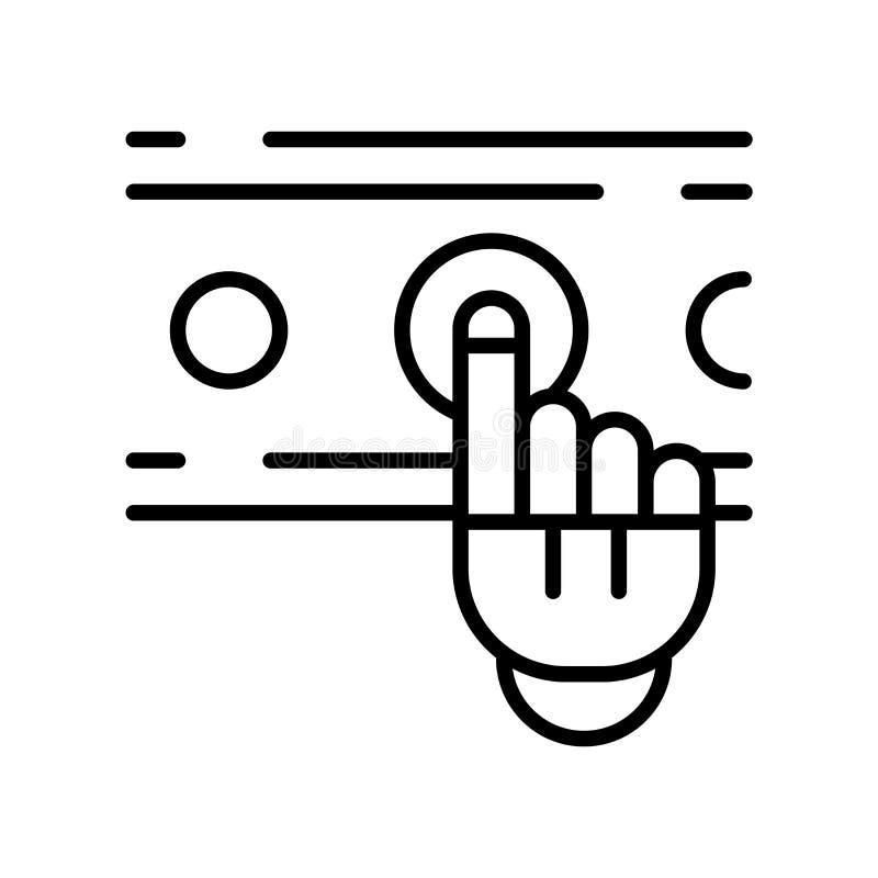 Het pictogramvector van de vingercontrole op witte achtergrond, Vinger wordt geïsoleerd die stock illustratie