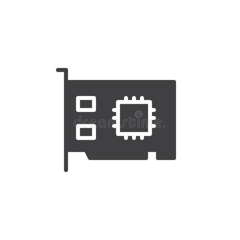 Het pictogramvector van de voorzien van een netwerkkaart stock illustratie