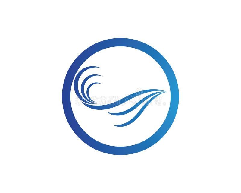 Het pictogramvector van de watergolf vector illustratie