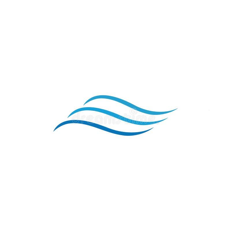 Het pictogramvector van de watergolf stock illustratie