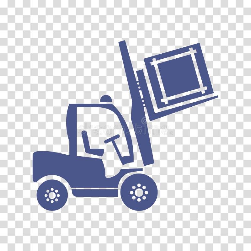 Het pictogramvector van de wielvorkheftruck royalty-vrije illustratie