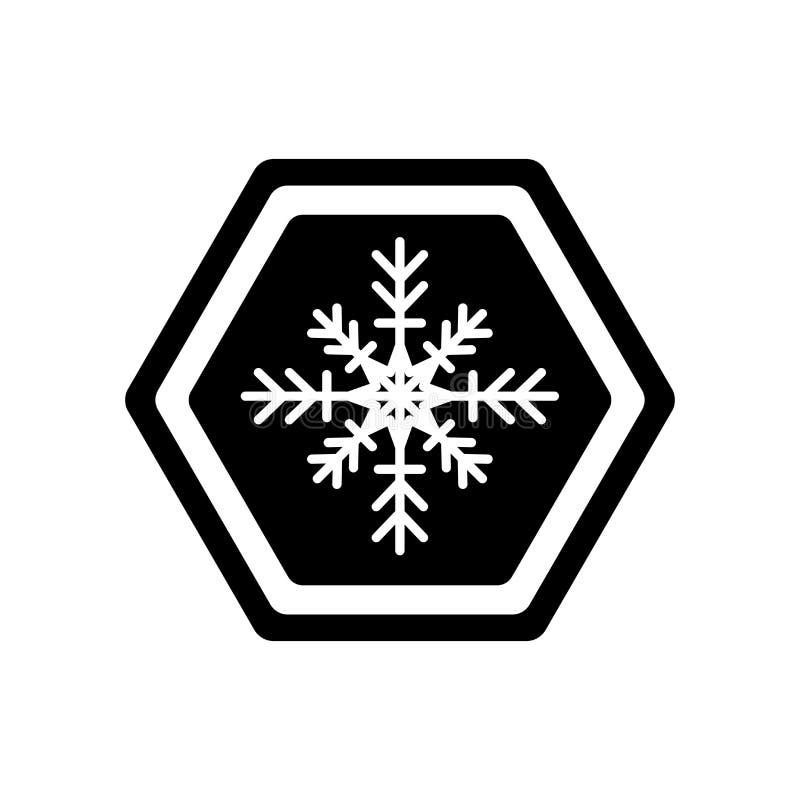 Het pictogramvector van de de winterwaarschuwing op witte achtergrond, de Winter wordt geïsoleerd die stock illustratie