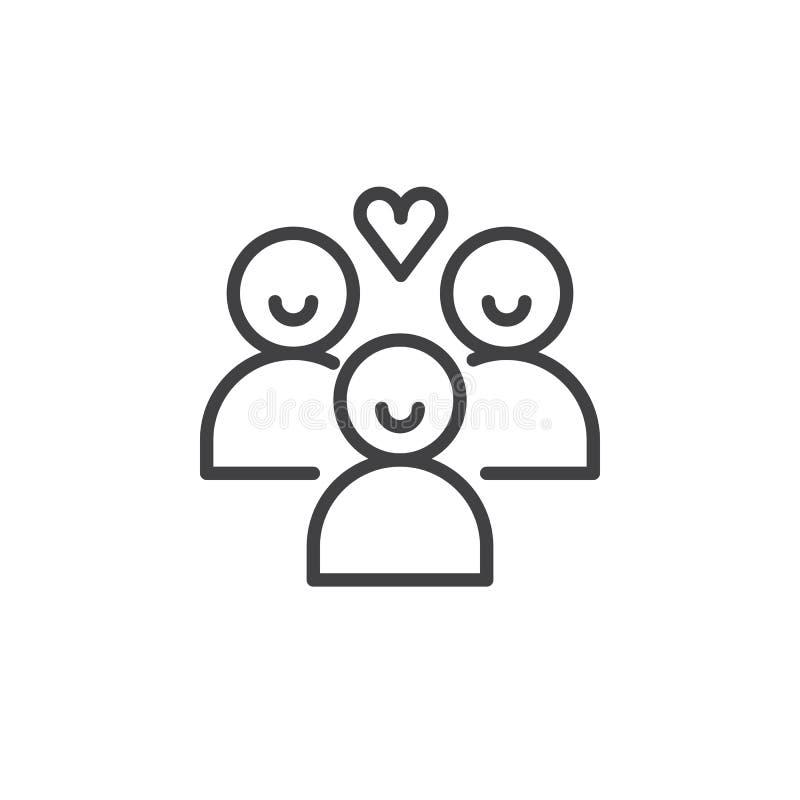 Het pictogramvector van donorsmensen vector illustratie