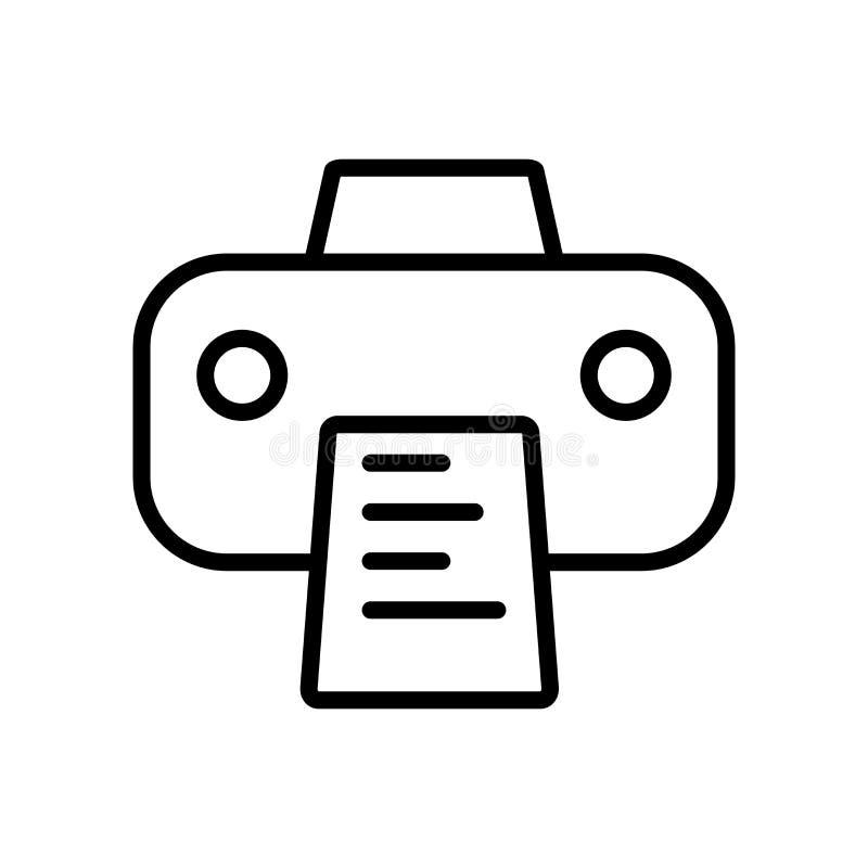 Het pictogramvector van drukdocumenten op witte achtergrond die, Pri wordt geïsoleerd stock illustratie