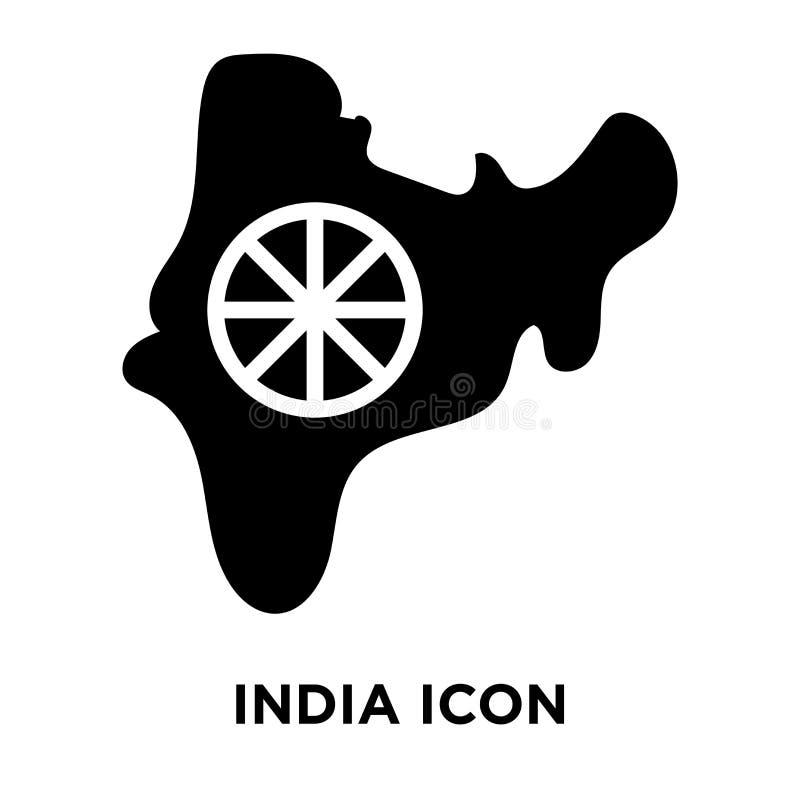 Het pictogramvector van India op witte achtergrond, embleemconcept wordt geïsoleerd dat van vector illustratie