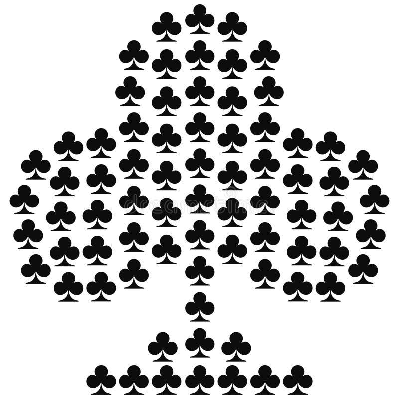 Het pictogramvector van het kaartkostuum, de vector van speelkaartensymbolen royalty-vrije illustratie
