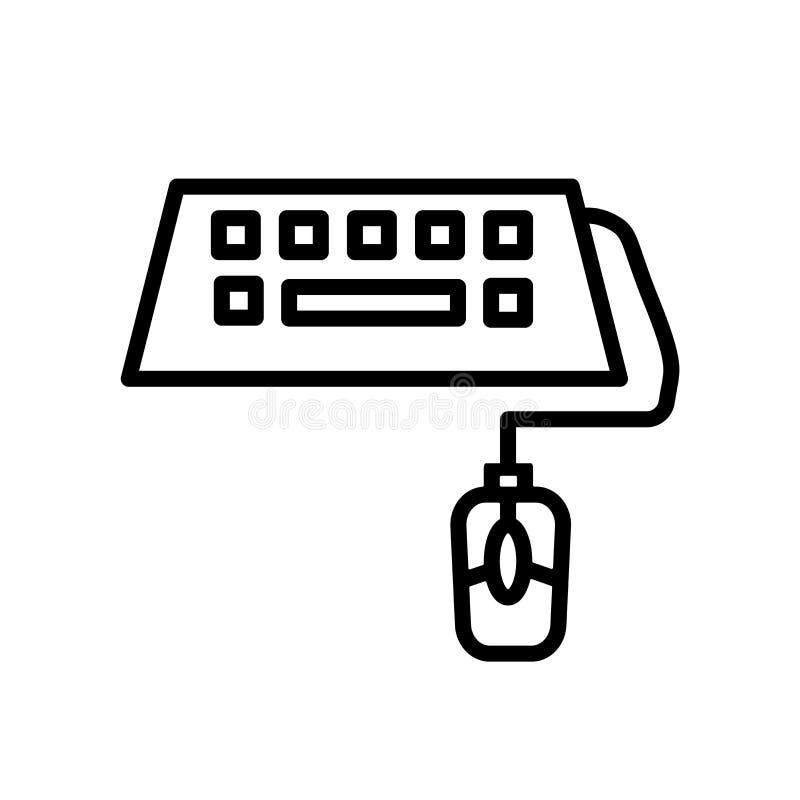 Het pictogramvector van het klaslokaaltoetsenbord op witte achtergrond, het teken van het Klaslokaaltoetsenbord, de lineaire symb royalty-vrije illustratie