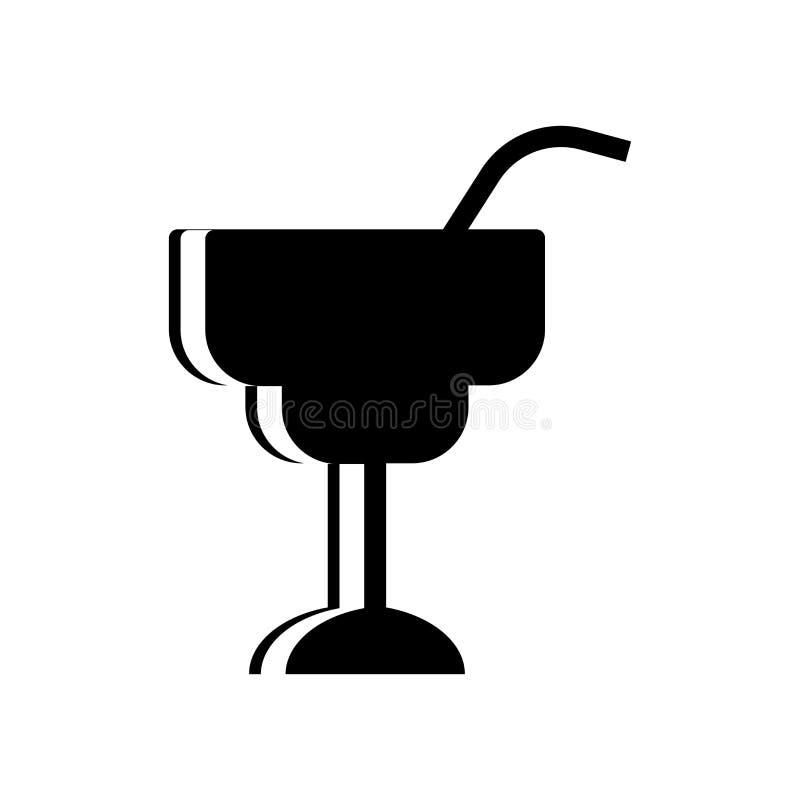 Het pictogramvector van Margarita op witte achtergrond, het teken van Margarita, voedselsymbolen wordt geïsoleerd dat royalty-vrije illustratie