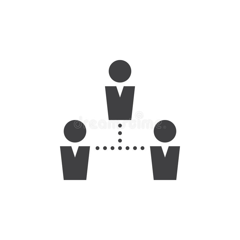 Het pictogramvector van mensenverbindingen, team stevig embleem, pictogram royalty-vrije illustratie