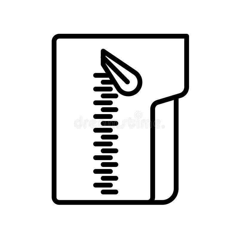 Het pictogramvector van het pitdossier op witte achtergrond, het teken dat van het Pitdossier wordt geïsoleerd vector illustratie