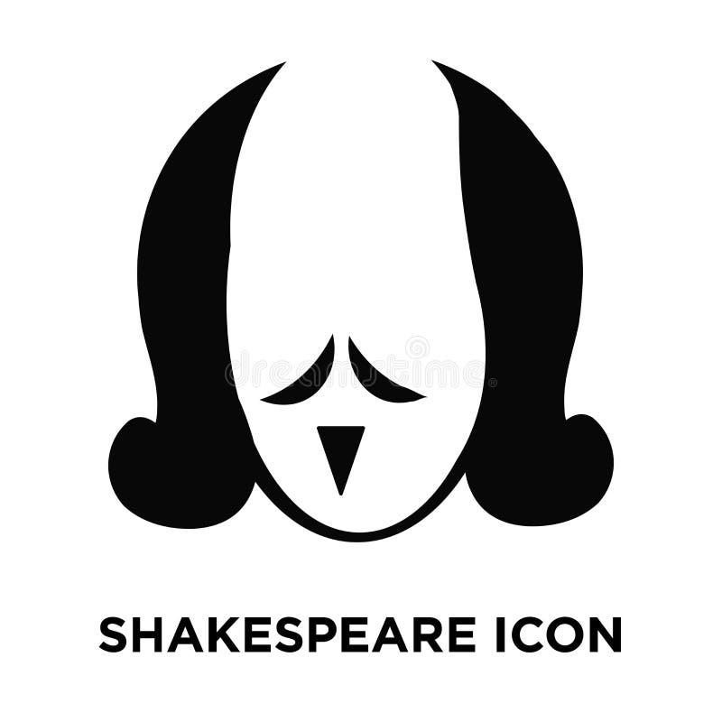 Het pictogramvector van Shakespeare op witte achtergrond, embleemconce wordt geïsoleerd die stock illustratie